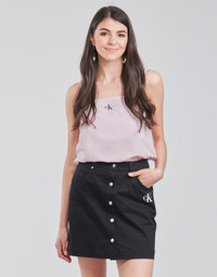 Textil Mulher Tops / Blusas Calvin Klein Jeans MONOGRAM CAMI TOP Rosa