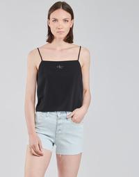 Textil Mulher Tops / Blusas Calvin Klein Jeans MONOGRAM CAMI TOP Preto