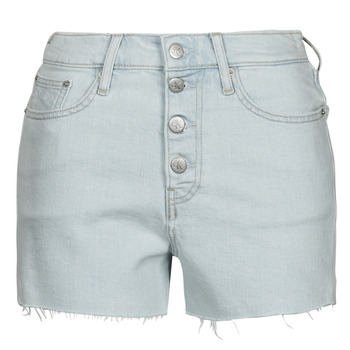 Textil Mulher Shorts / Bermudas Calvin Klein Jeans HIGH RISE SHORT Azul / Claro