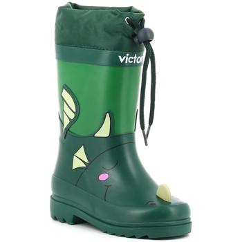 Sapatos Rapaz Botas de borracha Victoria LLUVIA ANIMALES 1060100 verde vert