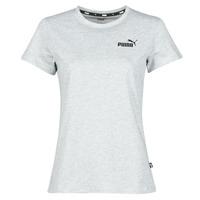 Textil Mulher T-Shirt mangas curtas Puma ESS LOGO TEE Cinza