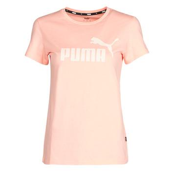 Textil Mulher T-Shirt mangas curtas Puma ESS Logo Tee (s) Abricó