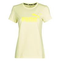 Textil Mulher T-Shirt mangas curtas Puma ESS Logo Tee (s) Amarelo
