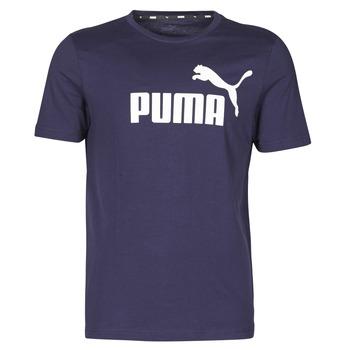 Textil Homem T-Shirt mangas curtas Puma ESSENTIAL TEE Marinho