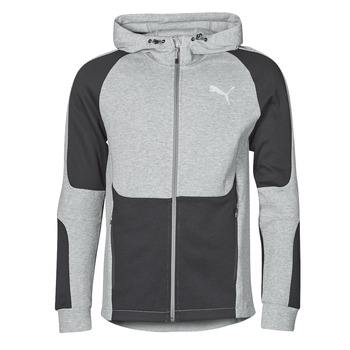 Textil Homem Sweats Puma EVOSTRIPE FZ HOODY Cinza / Preto