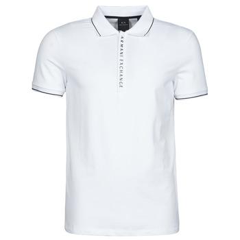 Textil Homem Polos mangas curta Armani Exchange 8NZF71-ZJH2Z Branco