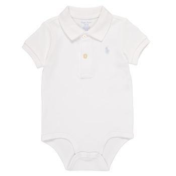 Textil Rapaz Pijamas / Camisas de dormir Polo Ralph Lauren NOUVEL Branco