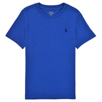 Textil Rapaz T-Shirt mangas curtas Polo Ralph Lauren ELIVA Azul / Safira