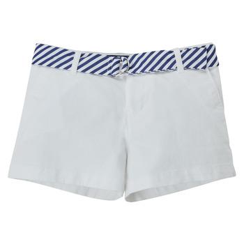 Textil Rapariga Shorts / Bermudas Polo Ralph Lauren FILLI Branco