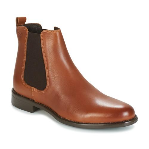Sapatos Mulher Botas baixas Betty London NORA Camel