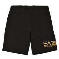 Textil Rapaz Shorts / Bermudas Emporio Armani EA7 3KBS53-BJ05Z-1200 Preto / Ouro