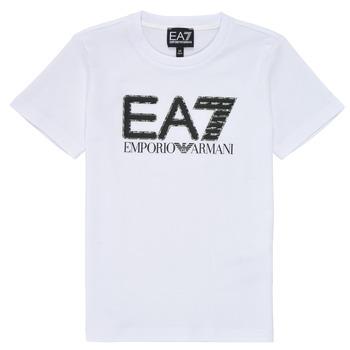 Textil Rapaz T-Shirt mangas curtas Emporio Armani EA7 3KBT53-BJ02Z-1100 Branco