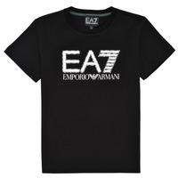 Textil Rapaz T-Shirt mangas curtas Emporio Armani EA7 3KBT53-BJ02Z-1200 Preto