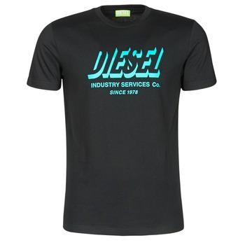 Textil Homem T-Shirt mangas curtas Diesel A01849-0GRAM-9XX Preto