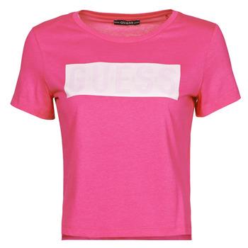 Textil Mulher T-Shirt mangas curtas Guess SS CN ADRIA TEE Rosa fúchia