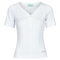 Textil Mulher T-Shirt mangas curtas Guess SS LETICIA TOP Branco