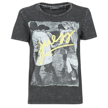 Textil Mulher T-Shirt mangas curtas Guess SS CN PAULA TEE Preto