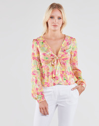 Textil Mulher Tops / Blusas Guess NEW LS GWEN TOP Multicolor