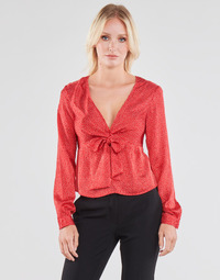 Textil Mulher Tops / Blusas Guess NEW LS GWEN TOP Vermelho / Branco