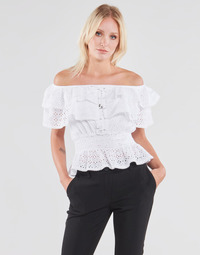 Textil Mulher Tops / Blusas Guess SS NEW ISOTTA TOP Branco