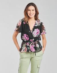 Textil Mulher Tops / Blusas Guess SS NEREA TOP Preto / Multicolor
