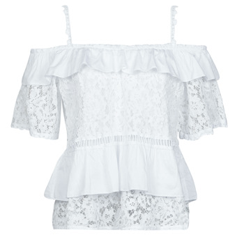 Textil Mulher Tops / Blusas Guess SS NEW OLIMPIA TOP Branco
