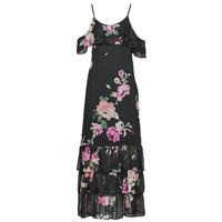 Textil Mulher Vestidos compridos Guess AGATHE DRESS Preto / Multicolor