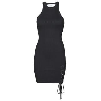 Textil Mulher Vestidos curtos Guess ALEXA TIE DRESS Preto