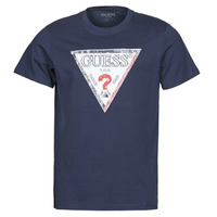 Textil Homem T-Shirt mangas curtas Guess TRIESLEY CN SS TEE Marinho