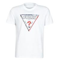Textil Homem T-Shirt mangas curtas Guess TRIESLEY CN SS TEE Branco