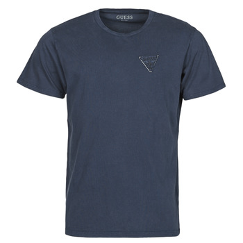 Textil Homem T-Shirt mangas curtas Guess LOGO ORGANIC BASIC CN SS TEE Marinho