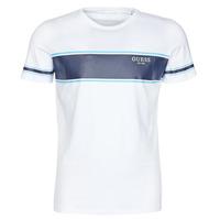 Textil Homem T-Shirt mangas curtas Guess CN SS TEE Branco / Marinho