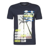 Textil Homem T-Shirt mangas curtas Guess GUESS CLUB CN SS TEE Marinho