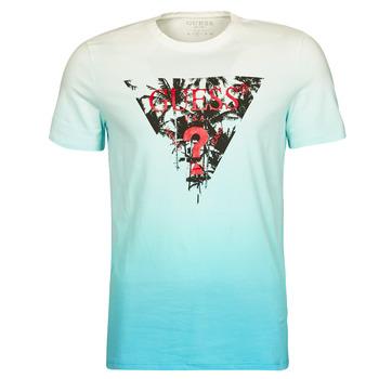 Textil Homem T-Shirt mangas curtas Guess PALM BEACH CN SS TEE Azul