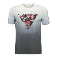 Textil Homem T-Shirt mangas curtas Guess PALM BEACH CN SS TEE Preto