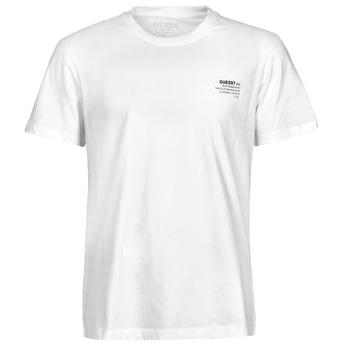 Textil Homem T-Shirt mangas curtas Guess ORGANIC BASIC CN SS TEE Branco
