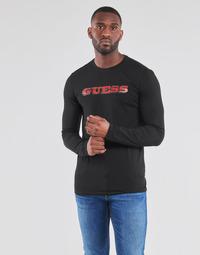 Textil Homem T-shirt mangas compridas Guess GUESS PROMO CN LS TEE Preto