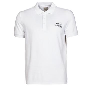 Textil Homem Polos mangas curta Guess OZ SS POLO Branco