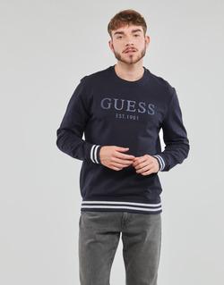 Textil Homem Sweats Guess BEAU CN FLEECE Preto