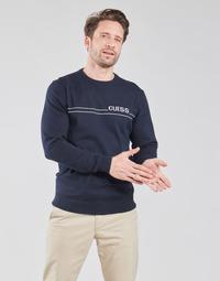 Textil Homem camisolas Guess LS CN LOGO 12 GG Marinho