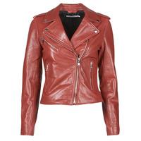 Textil Mulher Casacos de couro/imitação couro Naf Naf CHACHA P Vermelho