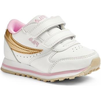 Sapatos Criança Sapatilhas Fila ORBIT VELCRO INFANTS WHITE Branco