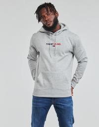 Textil Homem Sweats Tommy Jeans TJM LINEAR LOGO HOODIE Cinza