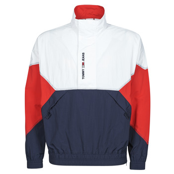 Textil Homem Jaquetas Tommy Jeans TJM LIGHTWEIGHT POPOVER JACKET Branco / Vermelho / Marinho