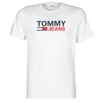 Textil Homem T-Shirt mangas curtas Tommy Jeans TJM CORP LOGO TEE Branco