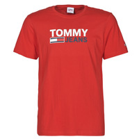 Textil Homem T-Shirt mangas curtas Tommy Jeans TJM CORP LOGO TEE Vermelho