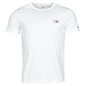 Textil Homem T-Shirt mangas curtas Tommy Jeans TJM CHEST LOGO TEE Branco