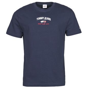 Textil Homem T-Shirt mangas curtas Tommy Jeans TJM TIMELESS TOMMY SCRIPT TEE Marinho
