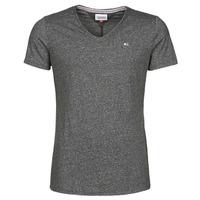 Textil Homem T-Shirt mangas curtas Tommy Jeans TJM SLIM JASPE V NECK Preto