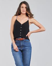 Textil Mulher Tops / Blusas Tommy Jeans TJW CAMI TOP BUTTON THRU Preto